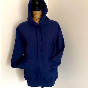 NEW Hanes Pullover Hoodie Sweatshirt Navy 2X ; M
